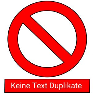 Keine Text Duplikate