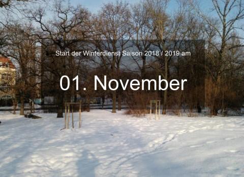 Start der Winterdienst Saison 2018 / 2019