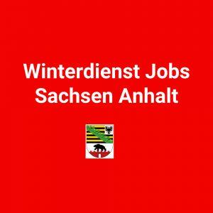 Winterdienst Jobs Sachsen Anhalt